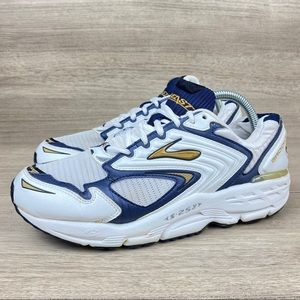 Brooks Beast S-257 Men's White Blue Running Shoes